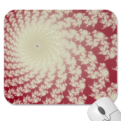 Smooth Red Whirlpool Mousepad