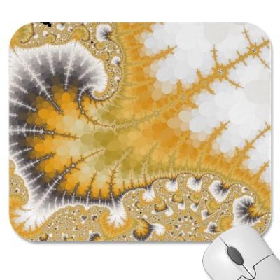 Gold Stingray Mousepad