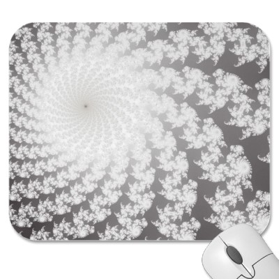 Silver Whirlpool Mousepad