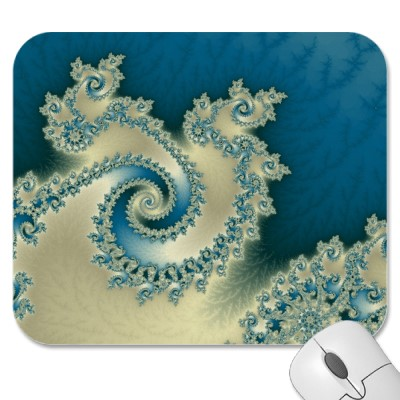 Beach Triple Twirl Mousepad