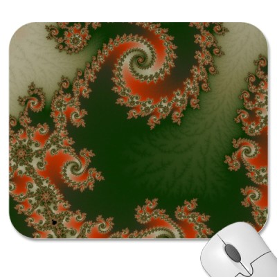 Pimento Olive Double Spiral Mousepad
