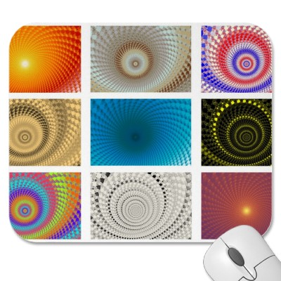 Tableau of Circles Mousepad