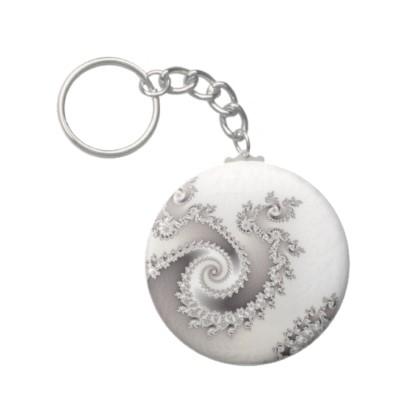 Silver Triple Twirl Keychain