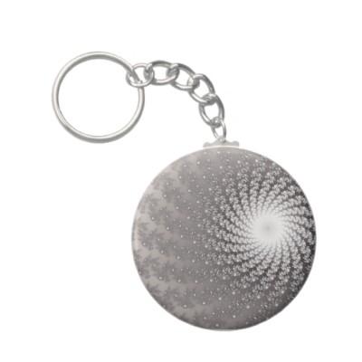 Silver Whirlpool 2 Keychain