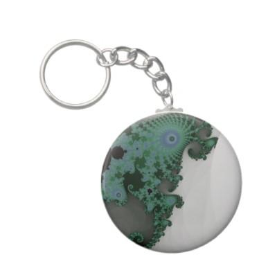 Emerald Seahorse Keychain