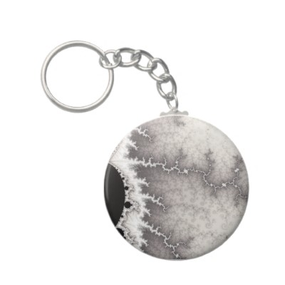 Silver Fault Line Keychain