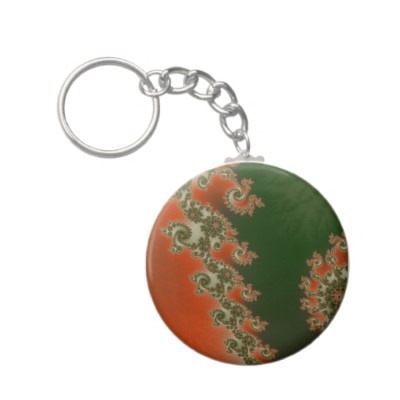 Pimento Olive Lines Keychain