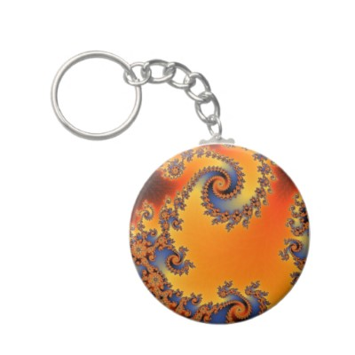 Quenched Double Spiral Keychain