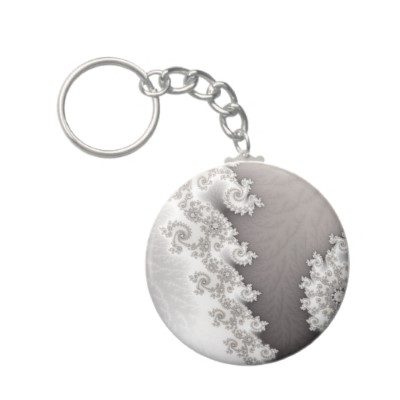Silver Lines Keychain