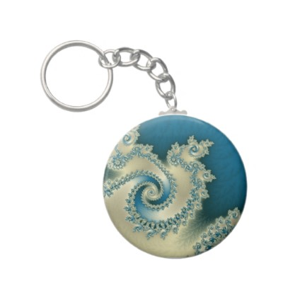 Beach Triple Twirl Keychain