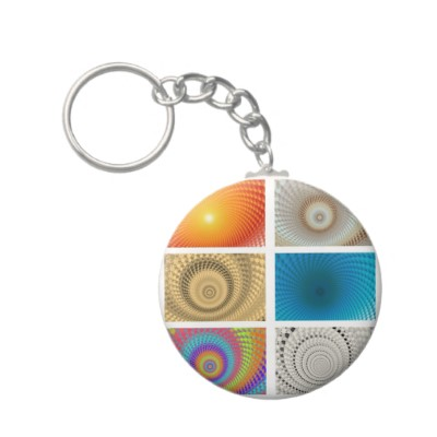 Tableau of Circles Keychain