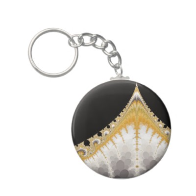 Silver and Gold Volcano Keychain