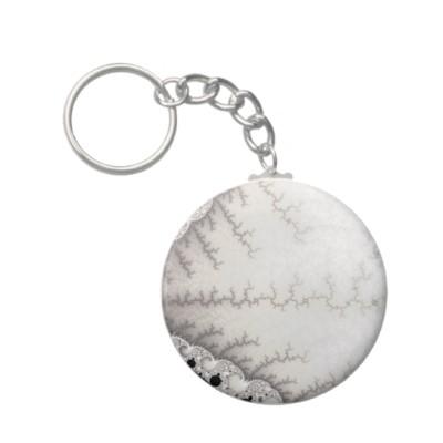 Silver Zigzag Keychain