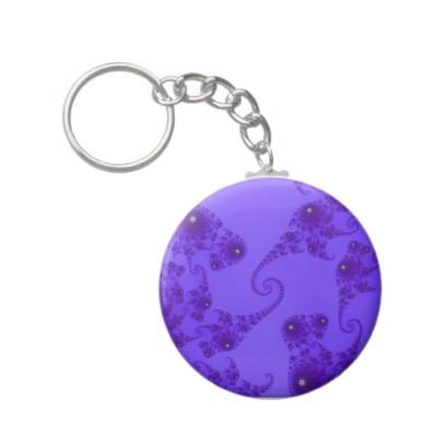 Blue Purple Seahorse Herd Keychain