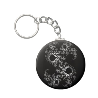 Black White Julia 324048 Keychain