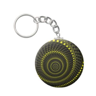 Yellow Circles Keychain