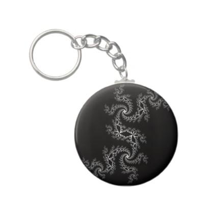 Black White Julia 300488 Keychain
