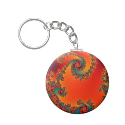 Circus Double Spiral Keychain