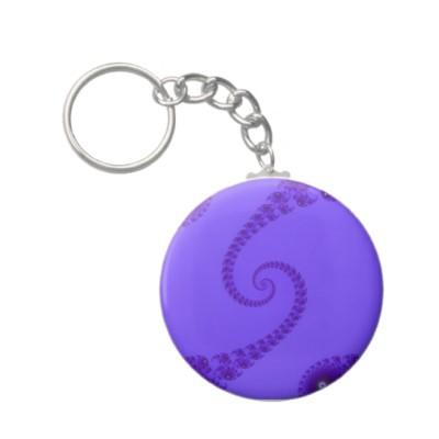 Blue Purple Double Spiral Keychain