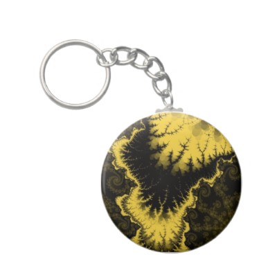 Gold Feathered Star Keychain