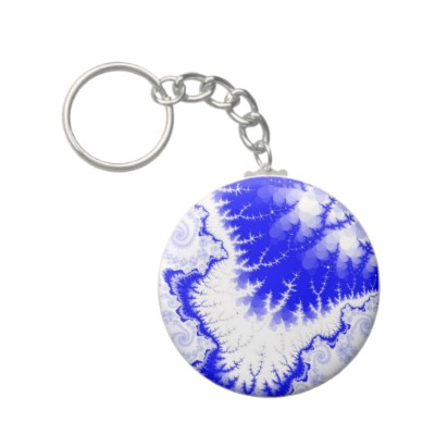 Blue Feathered Star Keychain