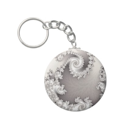Silver Double Spiral Keychain