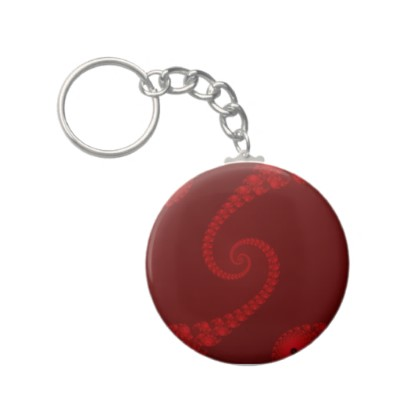 Deep Red Double Spiral Keychain