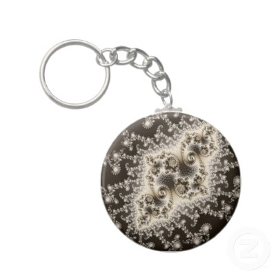 Sepia Brown Jellyfish Keychain