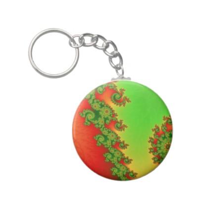 Christmas Lines Keychain