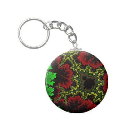 Coral Collage Keychain
