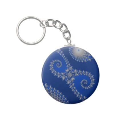 Silver Seahorse Keychain