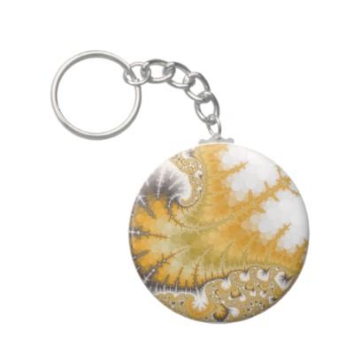 Gold Stingray Keychain