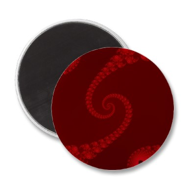 Deep Red Double Spiral Magnet