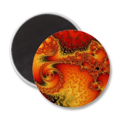Red Hot Firepit Magnet