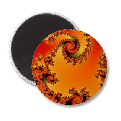 Flaming Hot Double Spiral Magnet