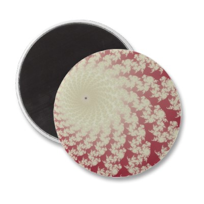 Smooth Red Whirlpool Magnet