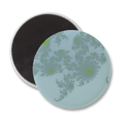 Green Ferns Magnet