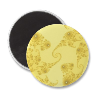 Yellow Gold Seahorse Herd Magnet