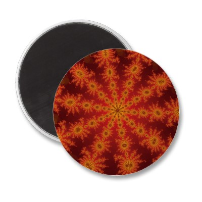 Red Orange Decasteer Magnet
