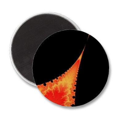 Fiery Stalagmite Magnet