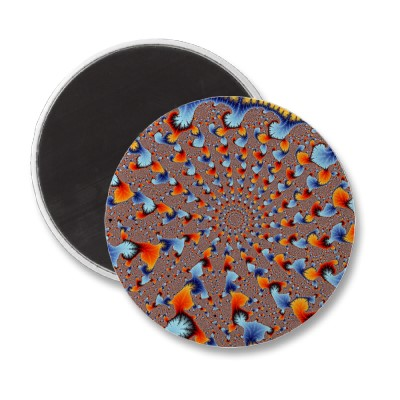 Red and Blue Flames Magnet