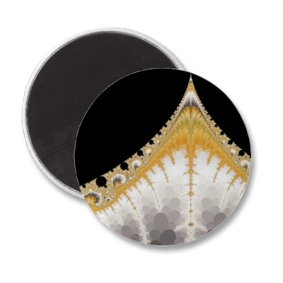 Silver and Gold Volcano Magnet