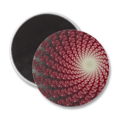 Smooth Red Whirlpool 2 Magnet