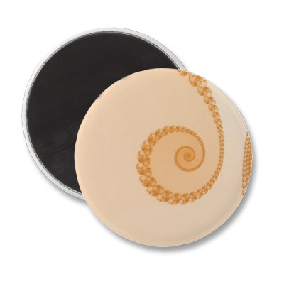 Gold Simple Spiral Magnet