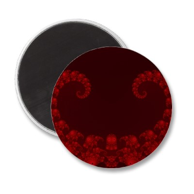 Deep Red Heart Magnet