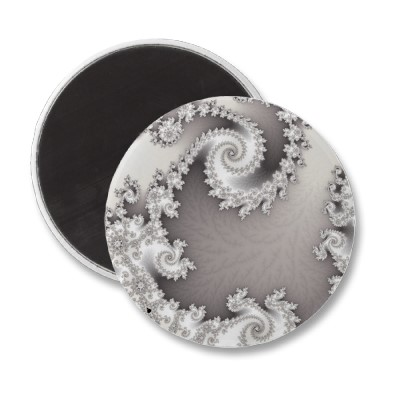 Silver Double Spiral Magnet
