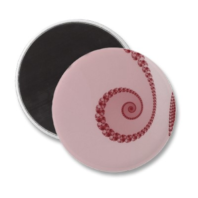 Plum Simple Spiral Magnet