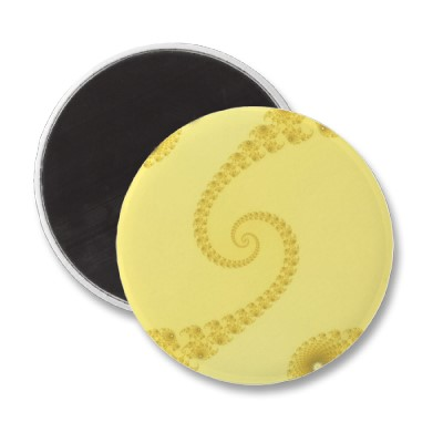 Yellow Gold Double Spiral Magnet