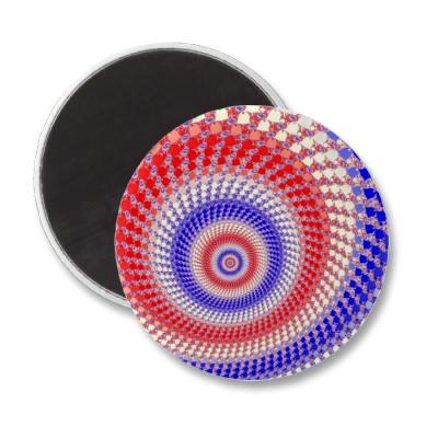 Tricolour Roundalls Magnet