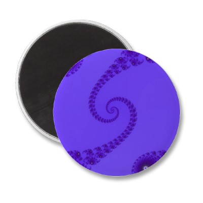 Blue Purple Double Spiral Magnet
